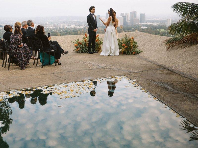 Sheats-Goldstein Residence Wedding Ceremony