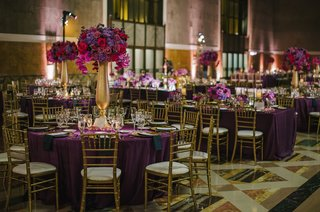purple-and-gold-wedding-decorations-at-union-station-party