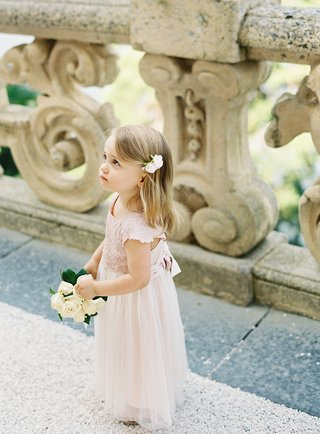 destination-wedding-in-lake-como-italy-at-villa-del-balbianello-flower-girl-in-pink-tulle-lace-dress