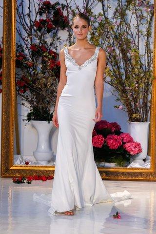 anne-barge-black-label-spring-2017-lavendar-silk-crepe-wedding-dress-with-beading-at-v-neckline