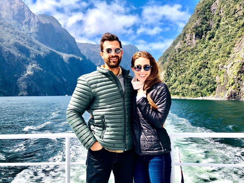 Honeymooners on Milford Sound Cruise