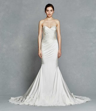 kelly-faetanini-spring-2017-inez-strapless-fit-to-flare-wedding-dress-silk-satin-lace-hem