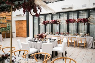 edgy-bridal-shower-at-restaurant-patio-with-dark-and-moody-color-scheme