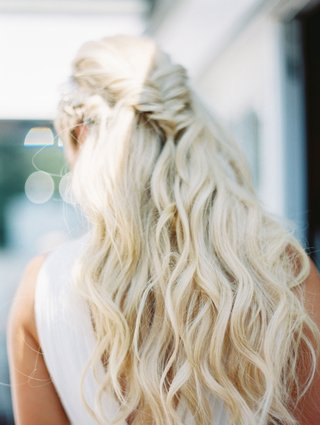cj-lana-perry-wedding-day-hairstyle-long-hair-loose-waves-fishtail-braid