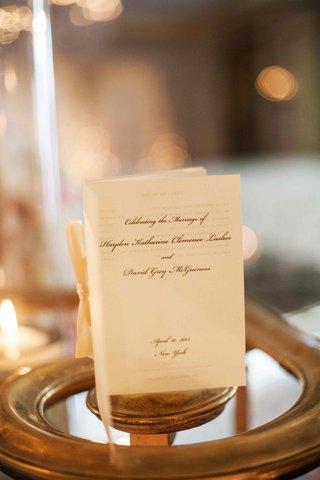 new-york-city-wedding-program-on-ivory-paper