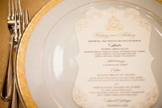 white-and-gold-dinner-menu-on-plate