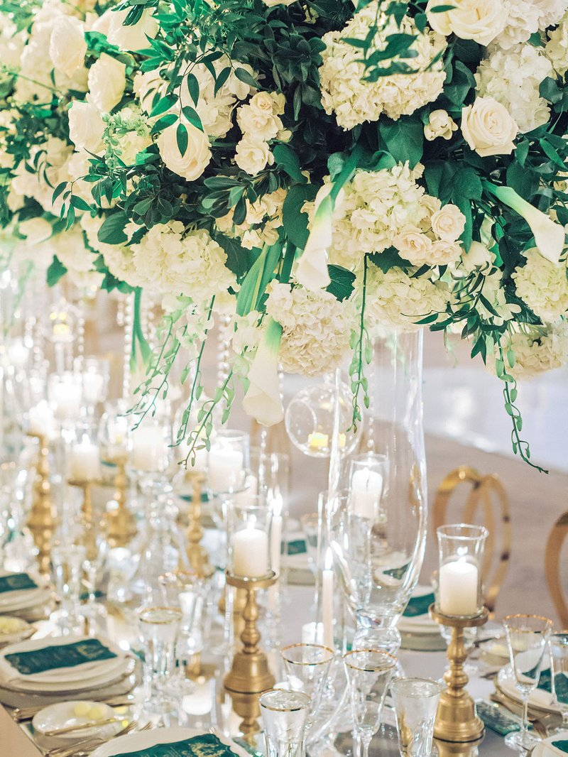 Classic Ivory Florals & Crystals
