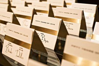 wedding-escort-cards-50th-wedding-anniversary-party-gold-foil-fifty-years-of-love-cards-tent