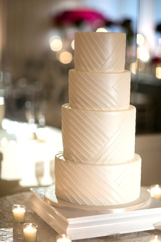 clean-simple-4-four-tier-wedding-cake-white-southern-california-wedding-dessert-lines-designs