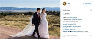 hbo-girls-actress-allison-williams-oscar-de-la-renta-wedding-dress-on-instagram