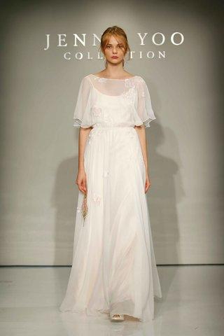 jenny-yoo-bridal-2016-silk-chiffon-wedding-dress-with-flower-applique