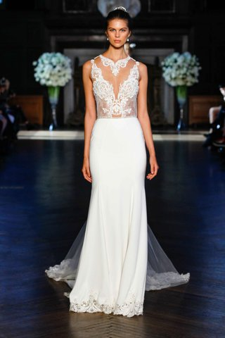 alon-livne-white-fall-2016-illusion-high-collar-bodice-and-skirt-with-lace-trim