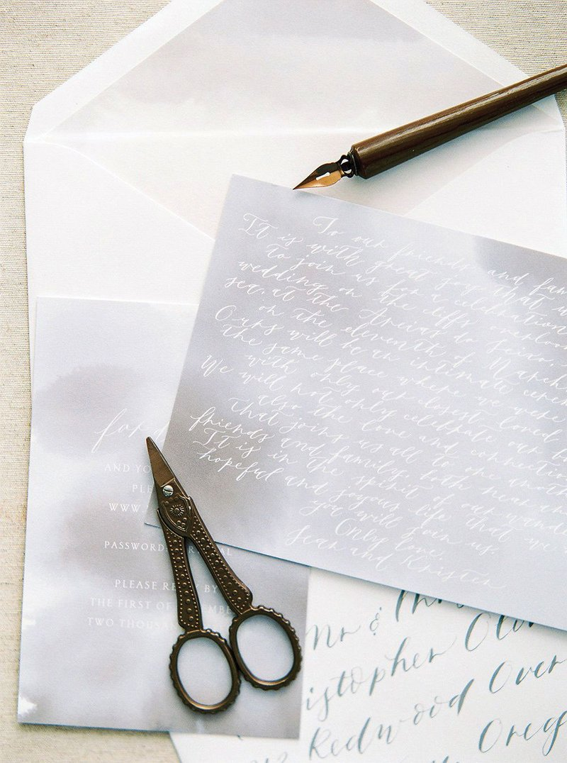 Calligraphy Thank-You Note from Couple
