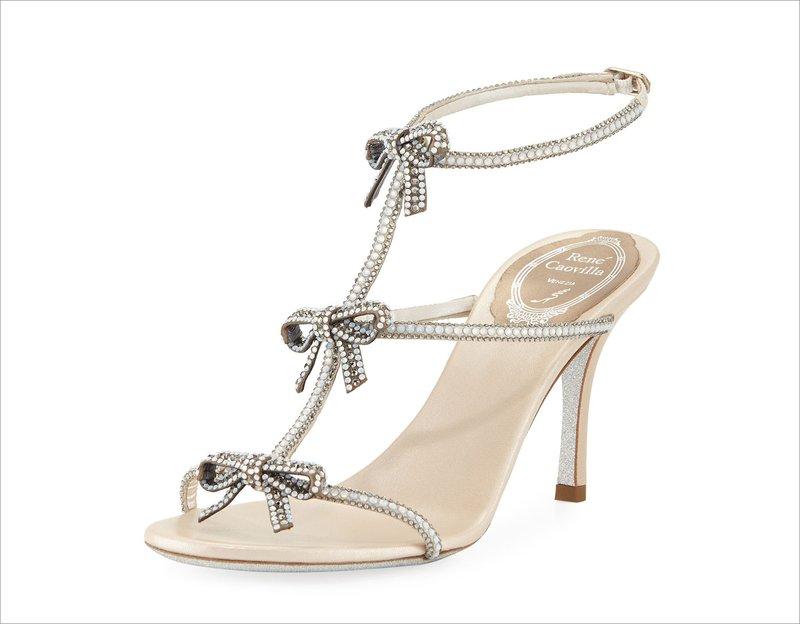 Rene Caovilla Bow Sandals