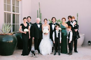 adrianna-costa-and-groom-with-family-members-in-black