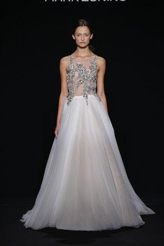mark-zunino-for-kleinfeld-2016-platinum-applique-bodice-and-a-line-wedding-dress-skirt