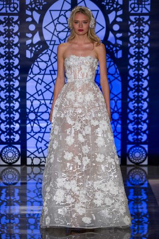 reem-acra-bridal-fall-2016-sheer-wedding-dress-with-silver-embroidery-and-flower-appliques