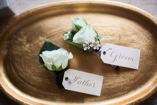white-rose-flower-boutonniere-wedding-for-groom-and-father-of-groom-tag-white