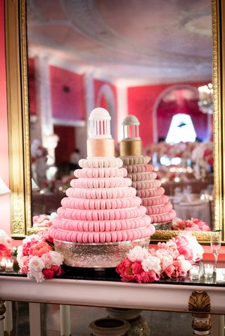 tiered-macaron-wedding-cake-southern-wedding-reception-unique-fading-desserts