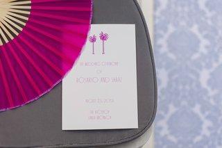 hot-pink-fan-and-palm-tree-wedding-program