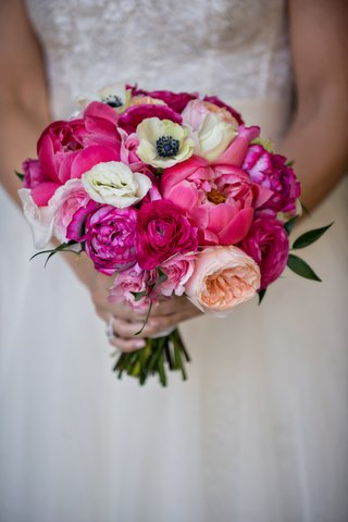 bridal-wedding-bouquet-with-pink-peony-white-anemone-pink-and-peach-garden-roses