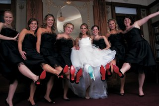 bride-and-bridesmaids-show-off-christian-louboutin-heels