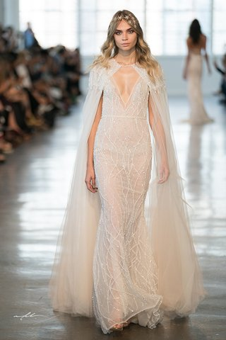 berta-fall-2018-wedding-dress-v-neck-sheer-bridal-gown-with-cape-matching