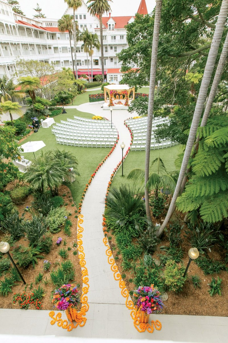 Pathway to Outdoor Ceremony