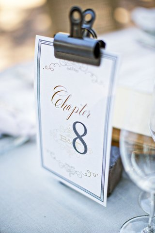 wedding-reception-table-number-idea-book-theme-chapter-table-number-with-clip