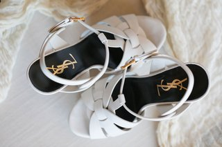 wedding shoes ysl yves Saint Laurent Tribute Platform Sandals in Smooth Leather