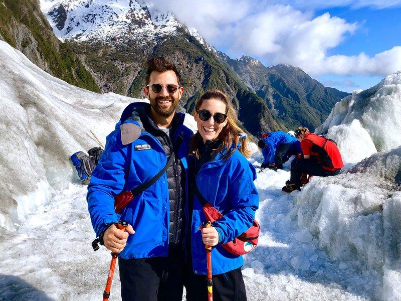 Honeymooners on Franz Josef Glacier Trek