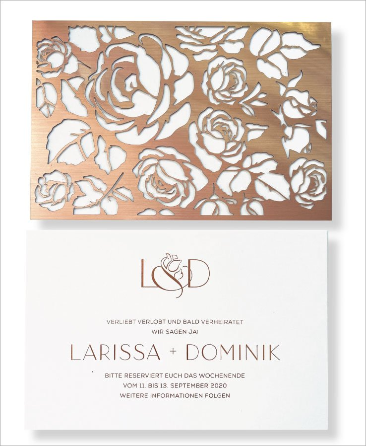 Laser-Cut Save the Date by RedBliss Design