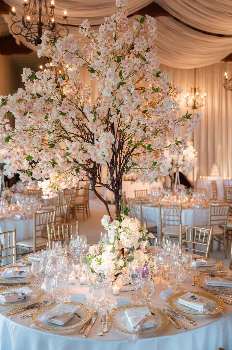 Faux Cherry Blossom Centerpiece