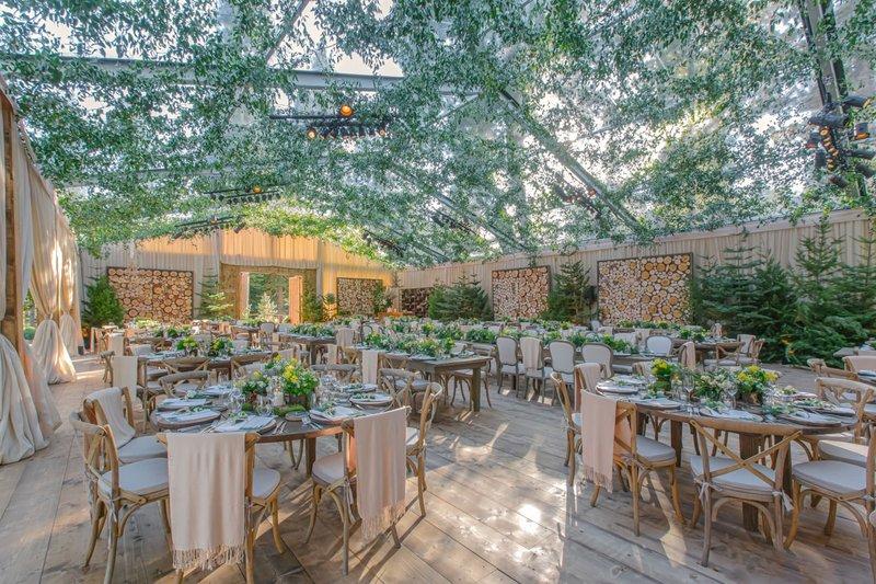 Mountain-Chic Wedding Reception