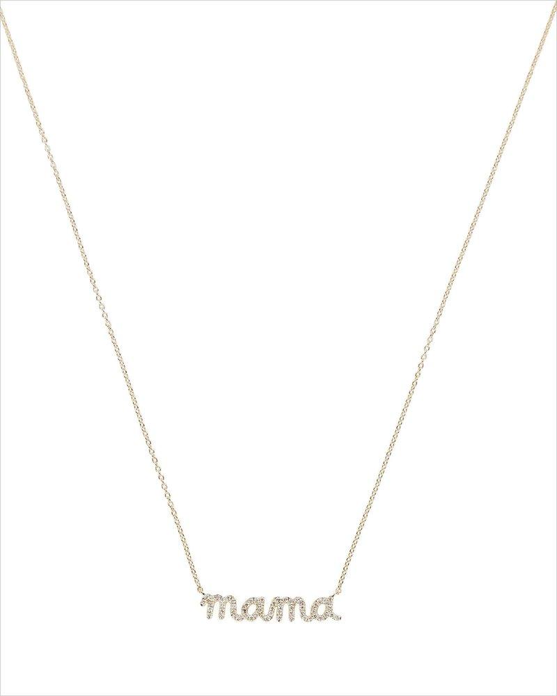 """Mama"" Diamond Necklace by Sydney Evan"