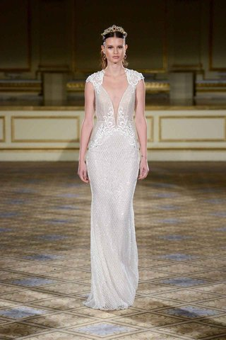 berta-fall-winter-2016-cap-sleeve-sheath-shimmer-wedding-dress