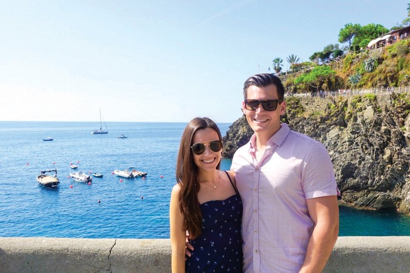 Couple Visiting Italy on Mediterranean Cruise