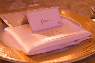 wedding-reception-place-setting-with-grooms-place-card-donation-wedding-favor-card-white-napkin