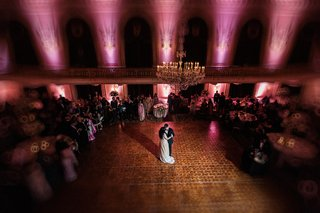 birds-eye-view-of-bride-and-grooms-first-dance-everything-else-out-of-focus