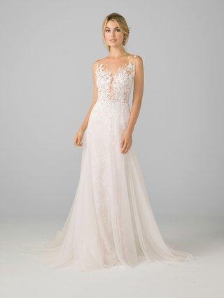 azul-by-liancarlo-2018-bridal-collection-sheath-wedding-dress-illusion-top-leaf-embroidery