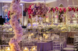 latour-trumpet-vase-with-purple-rose-orchid-lisianthus-hydrangea-tall-centerpiece