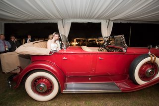 red-vintage-model-a-ford-convertible-for-newlywed-getaway-car