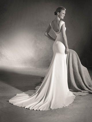 atelier-pronovias-2017-emilia-short-sleeve-wedding-dress-scoop-back-with-jewels-black-and-white