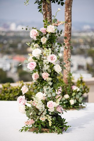 wedding-ceremony-four-post-structure-chuppah-pink