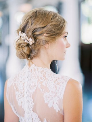 bride-in-a-jinza-couture-bridal-dress-with-chantilly-lace-updo-with-elizabeth-bowers-hair-comb