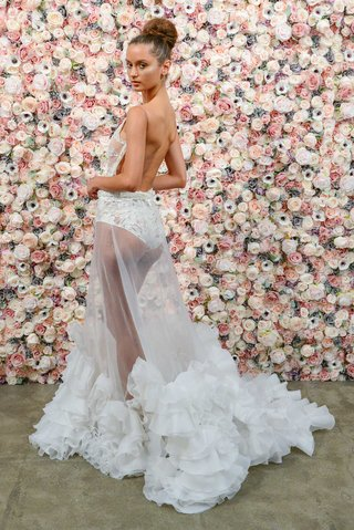 michael-costello-spring-summer-2018-bridal-couture-collection-bodysuit-with-sheer-ruffle-skirt