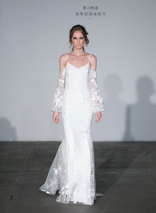 rime-arodaky-2018-bridal-collection-wedding-dress-spaghetti-strap-gown-long-sleeve-bell-sheer