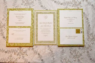 hannah-handmade-gatefold-wedding-invitation-with-light-green-brocade-laser-cut-details