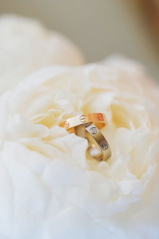 wedding rings cartier wedding bands love style on white peony gold and platinum