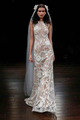 naeem-khan-bridal-fall-2017-algeri-sleeveless-wedding-dress-embroidery-sheer-details-flowers-netting